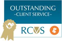 RCVS PSS Award logo - Outstanding Client Service