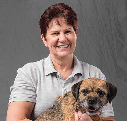 Gail Wragg, domestic cleaner at Dovecote Veterinary Hospital