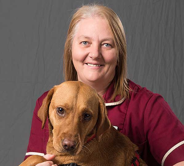 Gill Kershaw, Practice Manager at Dovecote Veterinary Hospital