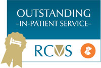 RCVS PSS Award logo - Outstanding in patient service